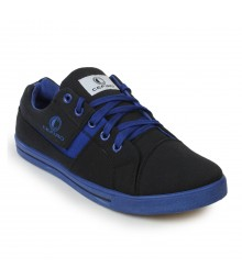 Cefiro Men Casual Shoes Fun05 Black Royal Blue CCS0024